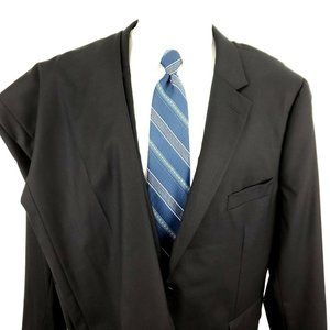 Other - Indochino 46 S Short 2 Button Black Wool Suit